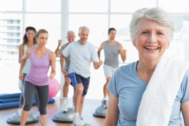 Fit senior woman staying active with physical therapy treatment exercises