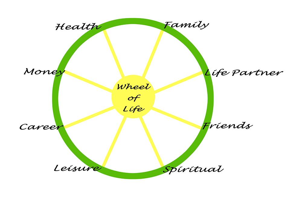 Wellness and Health Coaching - Wheel of Life
