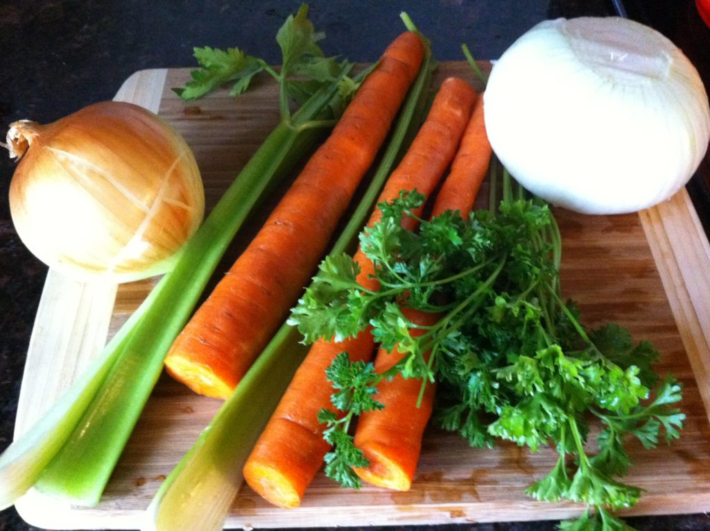 amazing bone broth veggies