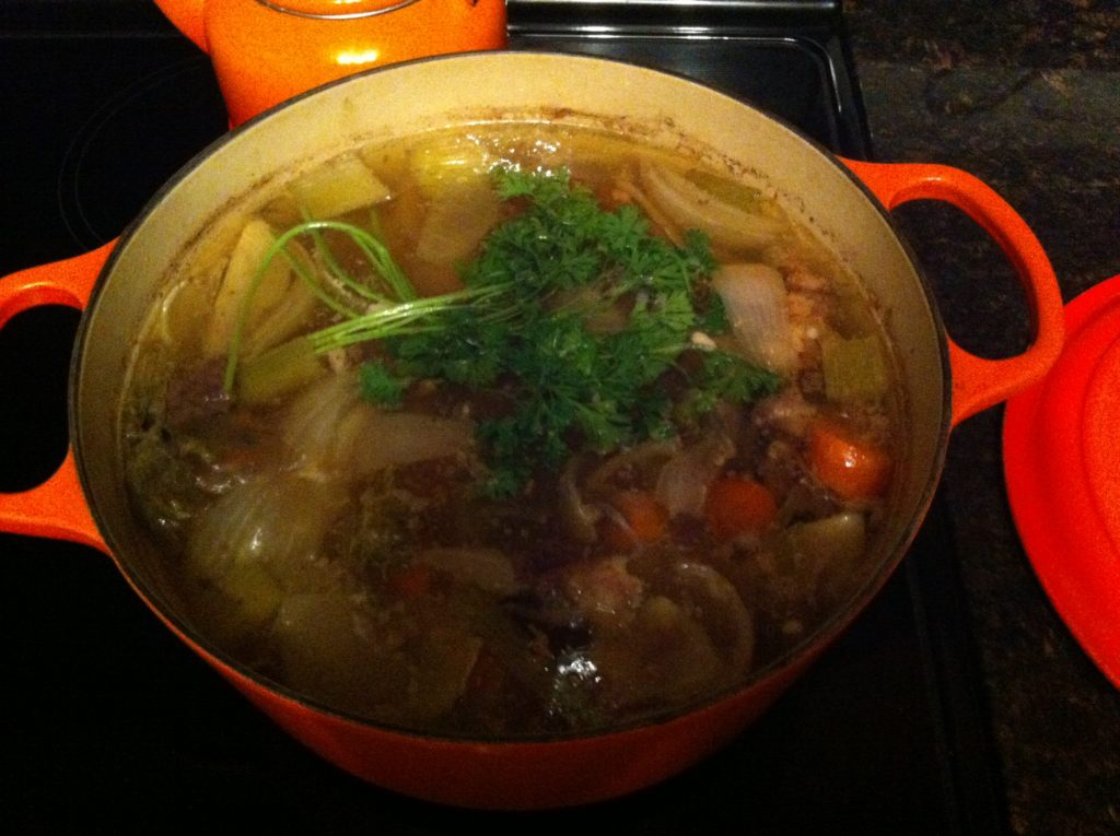 amazing bone broth finished cooking