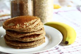 Buckwheat Banana Nut Pancakes